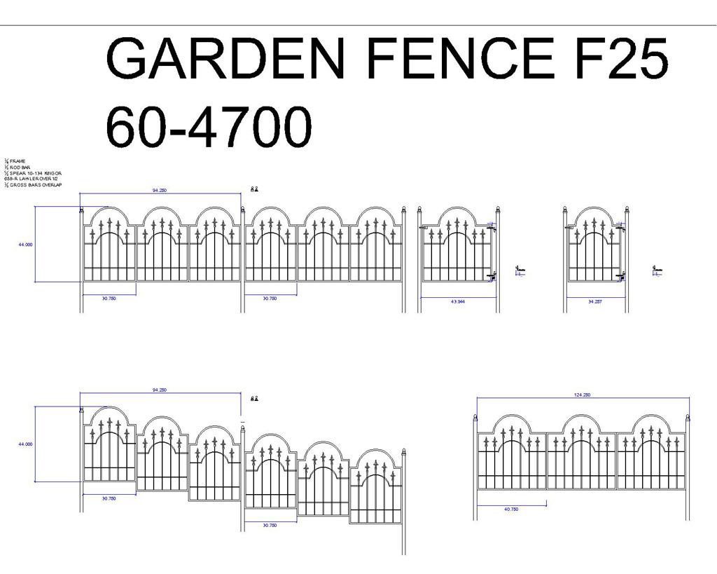 Spear Garden Fence