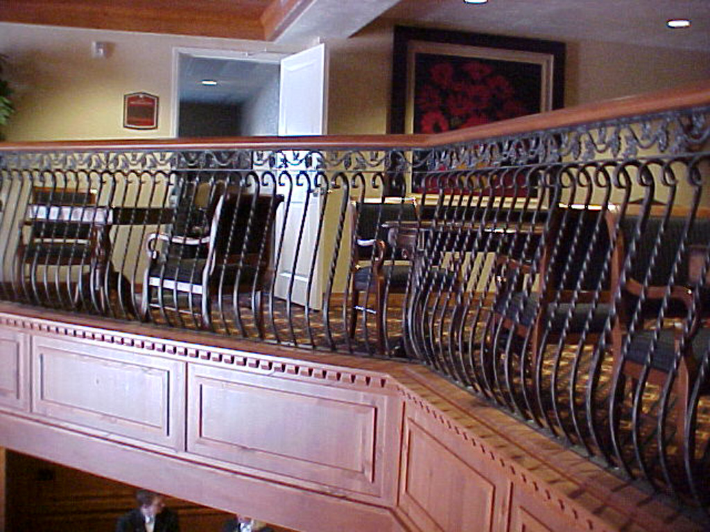 iron-anvil-railing-belly-rail-double-top-square-scroll-top-casting-zermatt-lobby-midway-5-5