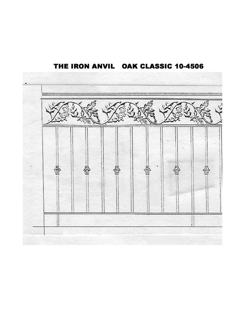 iron-anvil-railing-double-top-valance-casting-oak-classic-10-4511-line-drawing